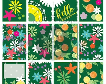 BIG April Spring Florals and Citrus Fruits Full Box Printable Sticker Kit for BIG HP Layout