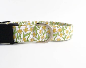 Daffodil Dog Collar | Dog Collar | Floral Dog Collar | Girl Dog Collar |  Small Dog Collar | Large Dog Collar | Puppy Collar