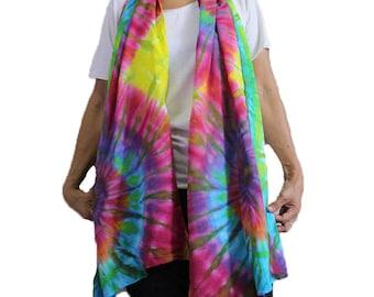 Rainbow Tie Dye Cotton Wrap Shawl ,Scarf , Accessories (25)