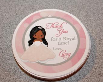 Princess Birthday Favor Tags / Princess Favor Tags / Princess Gift Tags / Princess Birthday Party /Princess Tags/Choose Your Princess/Set 12