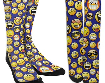 Emoji Socks - Funny Socks -Novelty Socks - Crazy Socks-Unique Socks- Cool Socks- Mens Novelty Socks- Womens Novelty Socks -Shipped FREE D88