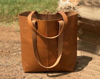 Sale!!! Roomy Brown camel leather bag, Leather tote bag, Large bag, Supple soft leather tote