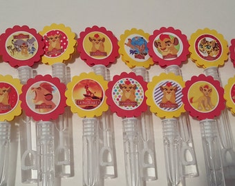 Lion Guard Inspired Mini Bubble Wands party favors - set of 15