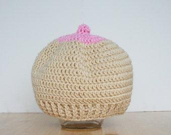 Boob Hat, boobie beanie, Breastfeeding hat, boobie cap, breastfeeding cap, Breast Cancer Awareness, breastfeeding hat for babies