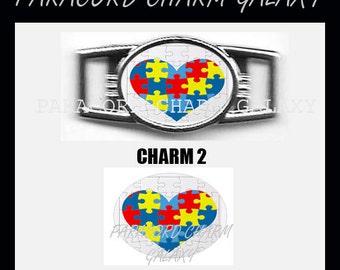 AUTISM Paracord Bracelet Charm Shoelace 12 x 16mm Charm Charm 2