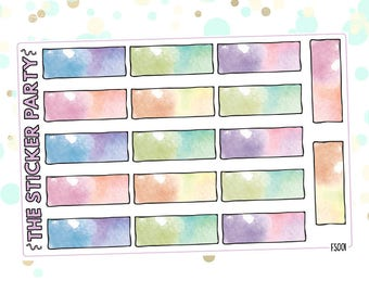 Watercolor Box Planner Stickers