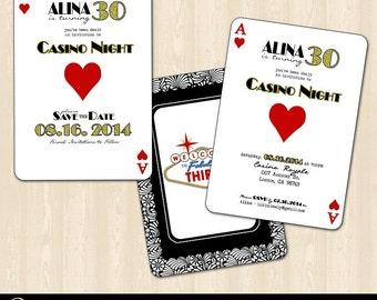 Casino Night/Vegas Birthday Invitation