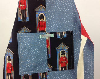 SALE!  SALE! SALE!                            Reversible apron. Adjustable apron. London apron. Changing of the guard apron. Kids apron