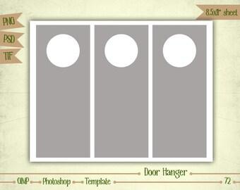 Door Hangers - Digital Collage Sheet Layered Template - (T072)