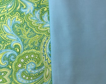 Green Paisley and Blue Or Neon  Bike Basket liner for Bell Lotus, Huffy, Electra Bike baskets Metal Wire Wicker or Mesh