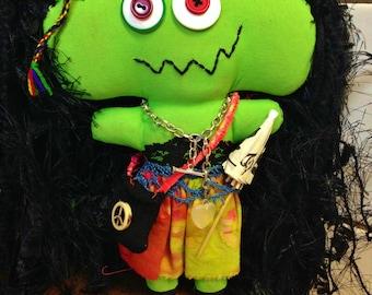 Handmade Shabby Charlotte Monster Doll - Lucy