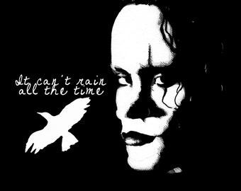 The Crow Rain All The Time Fine Art Print