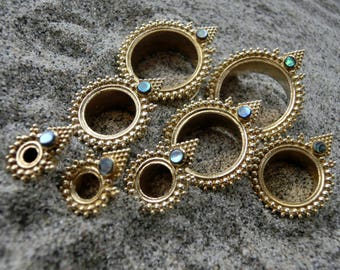 Brass Tunnels⎜Abalone Shell⎜4-20 mm