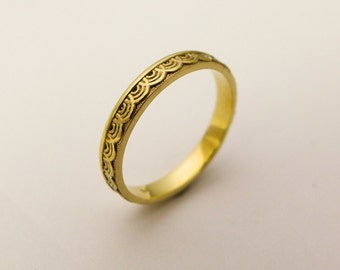 bands wedding etsy rings weddings il solid gold c band jewelry minimalist ring thin