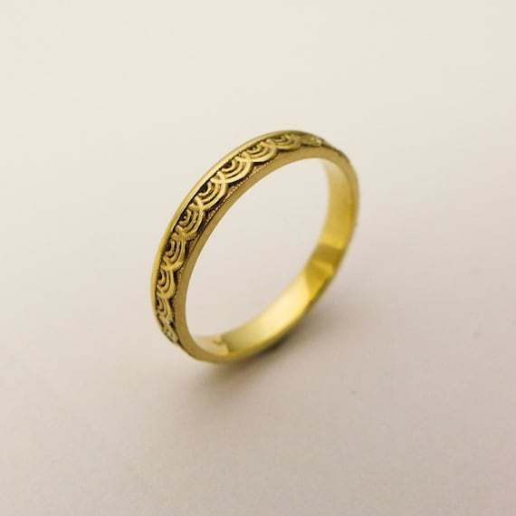 14 karat gold simple wedding ring for women Gold ring with