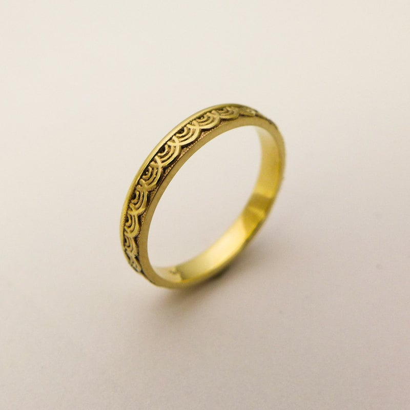 wedding men itm fit ring yellow band women simple gold comfort solid bands