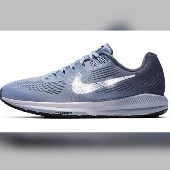... latest fashion efe4b c6dcd Nike Air Zoom Structure 21 Crystallized  Swarovski Swoosh ... 74a386dcf