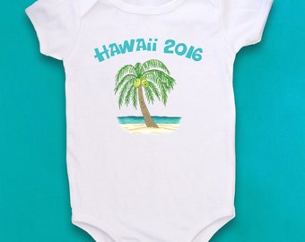 Cute Baby bodysuit, Unique Baby clothes, Palm Tree, Tropical Baby, Vacation shirts, Tropical baby shower, Little Girl, Girly, Beach Bum
