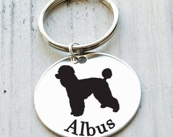 I Love My Dog Breed Personalized Key Chain - Engraved