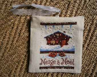 snow for Christmas pouch