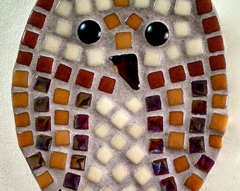 Wildlife OWL mosaic kit with shape, tiles, glue, grout and instructions to make your own interior mosaic