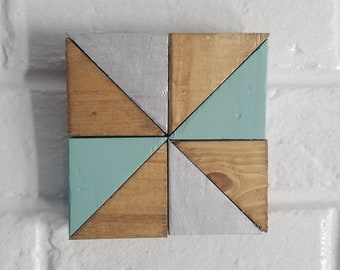 Wood Wall Art Mini Pinwheel