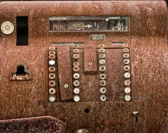 Vintage Cash Register. Photograph, Rustic, Fine Art, barblassa, print