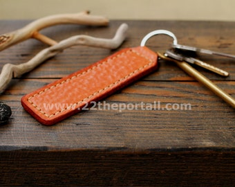 Leather Keychain, Leather Keyring.