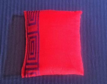 Vivid red cushion cover