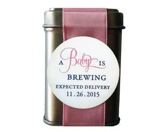 A Baby is Brewing High Tea Baby Shower Favor Baby Girl Shower