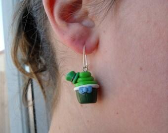 Mad Hatter Cupcake Earrings