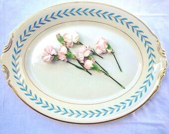 Vintage China Serving Platter from Old Syracuse Laurel Leaf Pattern