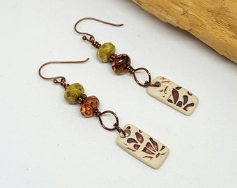 Rustic Bohemian Earrings - Rustic Earrings - Bohemian Earrings