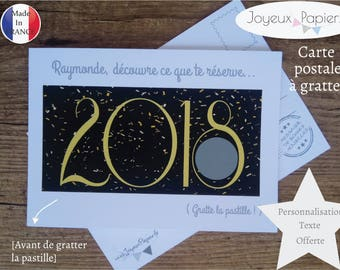 Scratch custom pregnancy announcement card: you're going to be an aunt / Uncle / Grandma / Grandpa...! model 2018