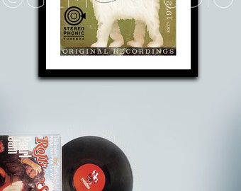 Goldendoodle Records graphic art illustration signed artists giclee archival print by Stephen Fowler