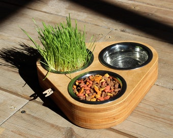 Cute cat food bowl. READY TO SHIP