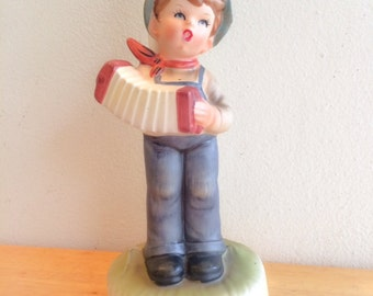 FREE USA Shipping RARE Hummel Made in Japan Boy with Accordion Lamp Light