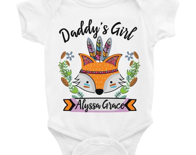 Custom Onesie ® Custom Baby Onesies, Baby Name Personalized Onesie, Customized Onesie, Woodland Fox Onesie, Boho Baby Onesie, Girl Name Tees
