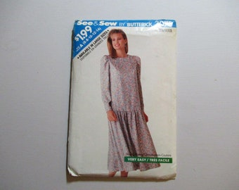 See & Sew by Butterick 3075.  Misses'/Misses' Petite Dress Size A – (6-8-10-12-14)