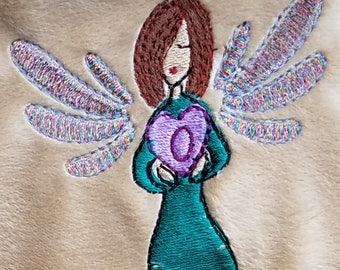 A Mother's Heart - Filled Machine Embroidery