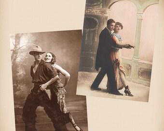 Art Deco Tango Couple Cowboy 2 New 4x6 Vintage Image Photo Prints CP10 CP67