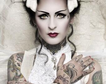 Bride of Frankenstein 11x14 PRINT Tattoo Horror Collection