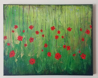 Forest Flowers Painting