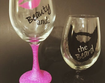 His & Her Drinking Glasses (Set of 2)