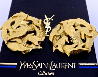 Vintage Yves Saint Laurent Twigs Entwined Earrings