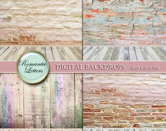 Digital Backdrop newborn digital photo background Digital white wood texture digital backdrop background newborn room Shabby Chic brick wall