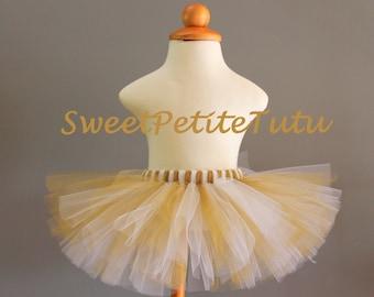 White and Gold tutu, White and Shimmery Gold tutu, Holiday tutu,  Preemie, Newborn to 14/16 teen, Sweet Petite Tutu, Baby Tutu