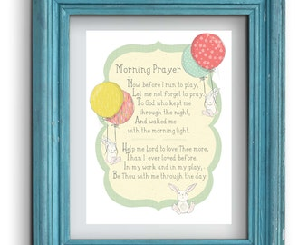 Morning Prayer with Bunnies Print {Digital}