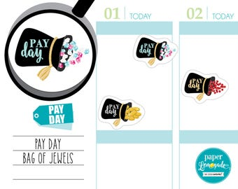 Planner Stickers pay day planner sticker payday sticker payday tracker planner sticker removable stickers for kikki k filofax S030-PAY