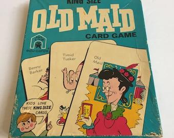 Vintage 1973 Edu-Cards No. 3292 King Size Old Maid Card Game - Rare Vintage Game